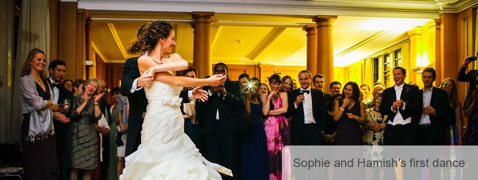 Sophie and Hamishs First Wedding Dance